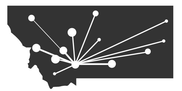 Montana Business Network State Connected Logo